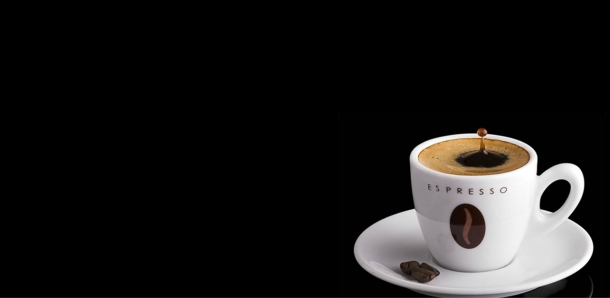 Espresso-Coffee-In-White-Cup-With-Beans